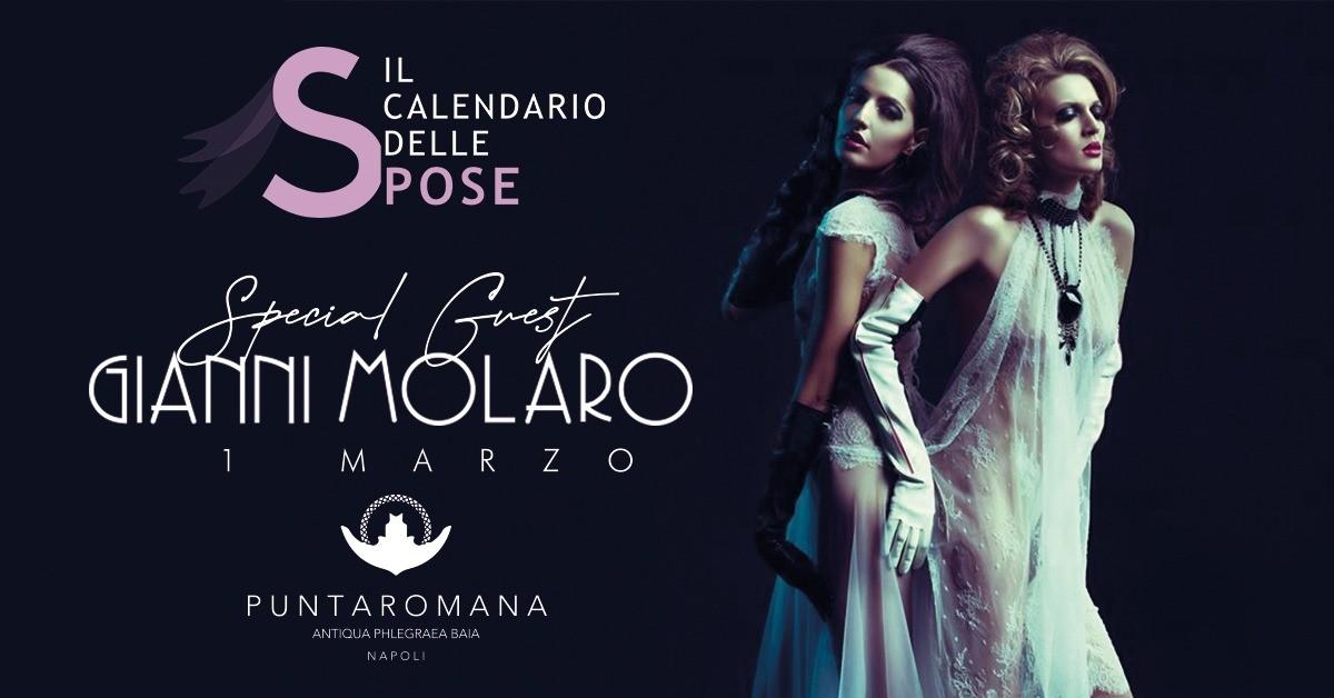 Il Calendario delle Spose apre il 2020 a Puntaromana con Gianni Molaro