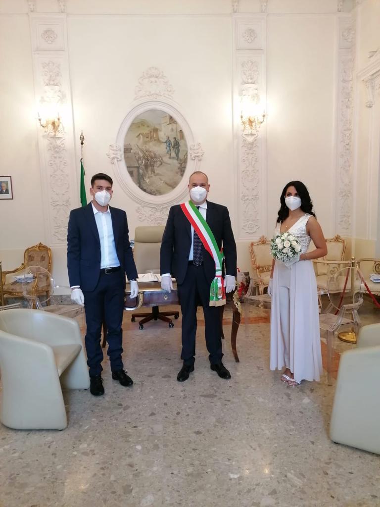 """Il matrimonio a Monteforte Irpino di Federica ed Eugenio: """"Ci sarà tempo per festeggiare"""""""