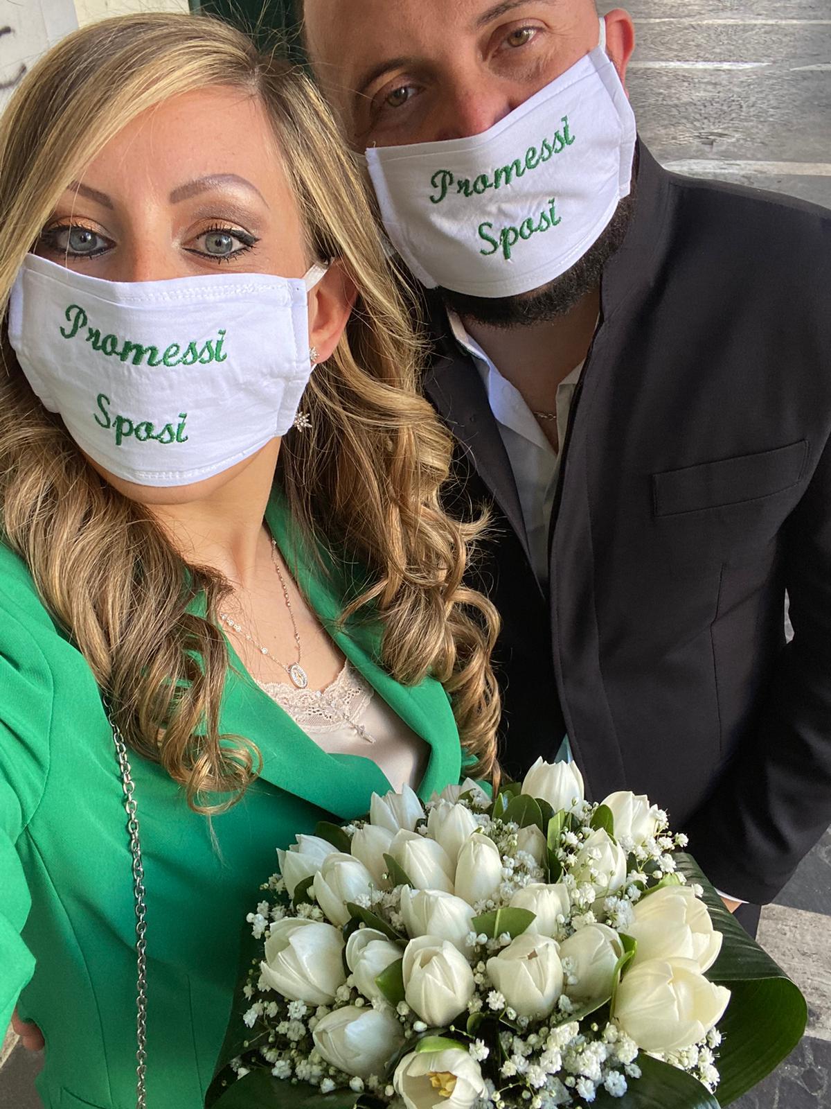Mascherine e Covid non ci fermano, promessi sposi, floriana e domenico, promessi sposi covid-19, aversa, futuri sposi luglio 2020, wedding campania, matrimonio campania, sposincampania, sposi campania, sposi covid-19, sposi coronavirus