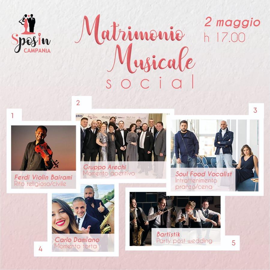 Matrimonio Musicale Social, l'intrattenimento di Sposincampania