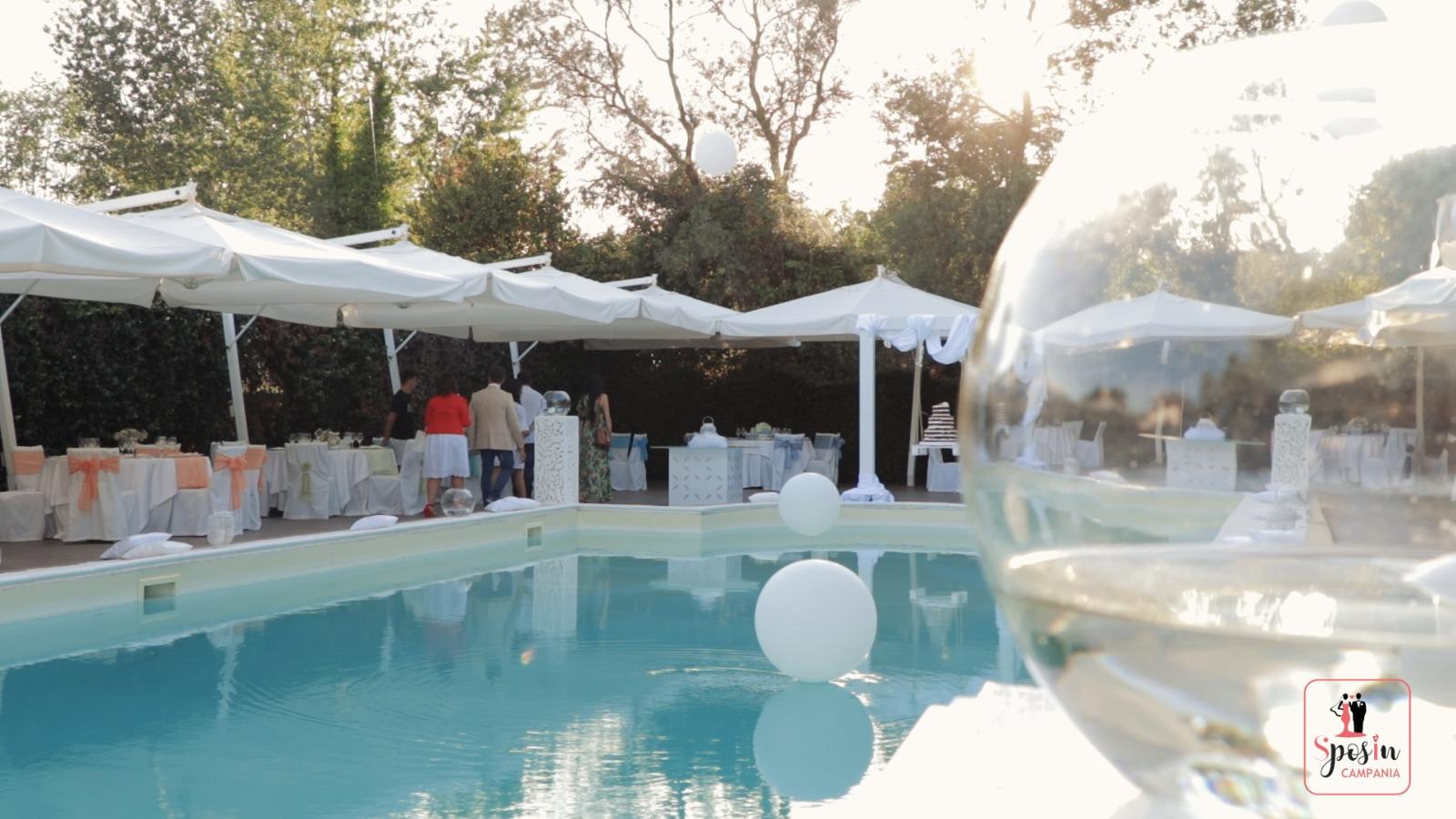 Villa Eubea: il wedding day estivo tra verde e serenità