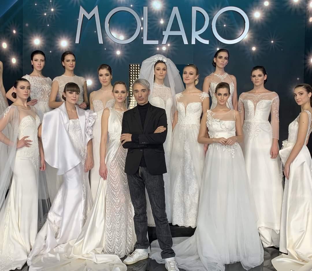 """Gianni Molaro: """"Che gioia rivedere tante coppie e far sfilare 18 abiti da sogno"""""""